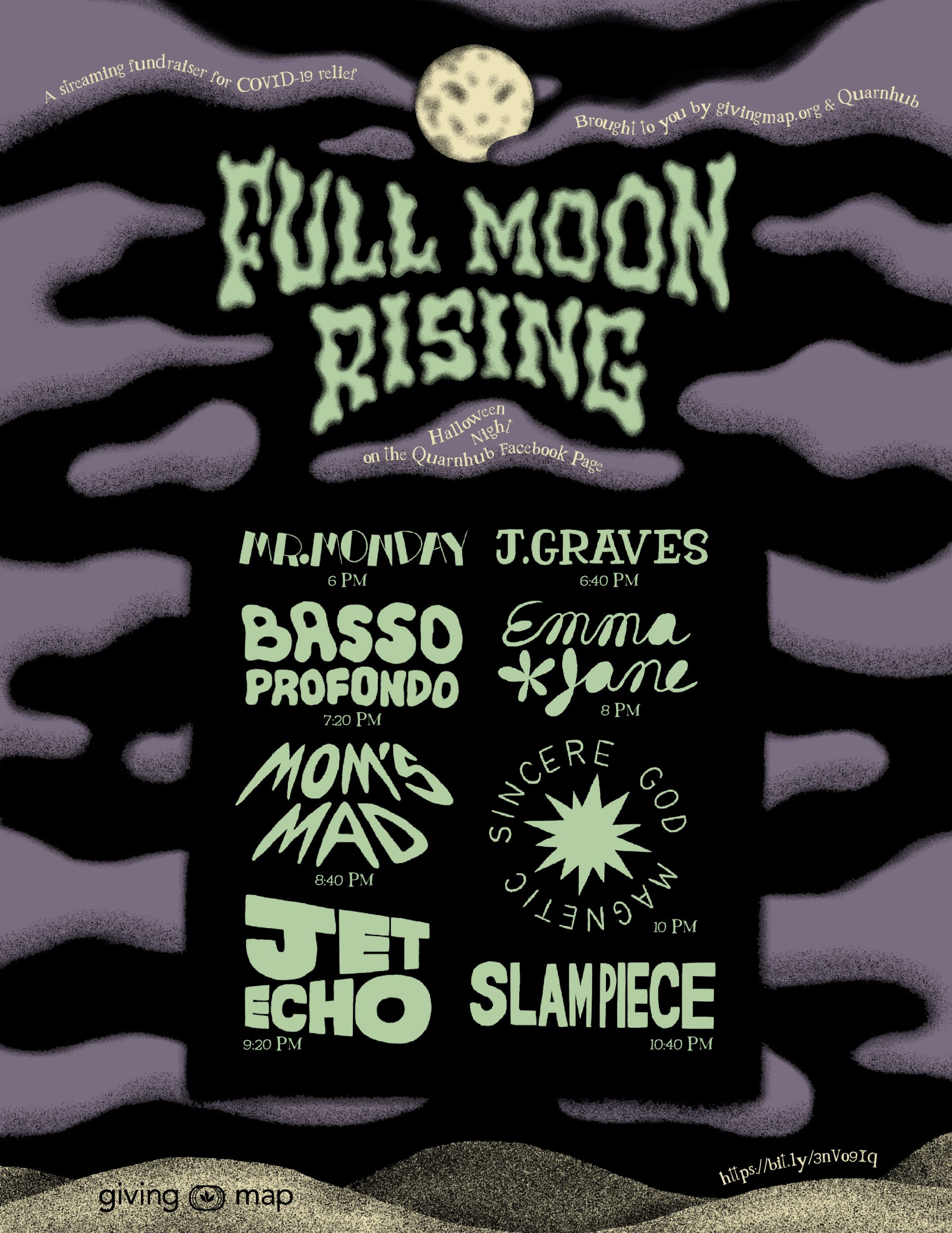 Full Moon Rising Halloween Benefit Poster